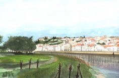 Alcácer do Sal (Portugal) neste último fim-de-semana - Aguarelas // Alcácer do Sal (Portugal) this last weekend - Watercolors