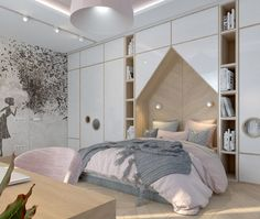 25 Best interior design apartemen for your home Dream Bedroom, Home Bedroom, Girls Bedroom, Bedroom Decor, Bedroom Ideas, Kids Bedroom Designs, Kids Room Design, Room Interior Design, Home Interior