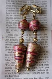 paper bead earrings - Google Search