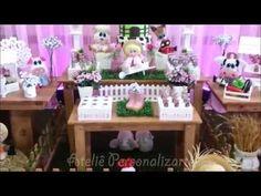 Ateliê Personalizarte: Decoração de festa infantil Fazendinha - Rosa Menina