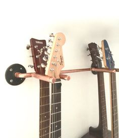 Guitar Wall Rack Industrial Design, Electric and Acoustic Guitar Hanger, Music Studio, Man Cave Copper Pipe Rack, Guitar Player Gift For Dad