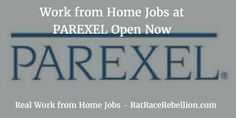 Work from Home Jobs at PAREXEL Open Now