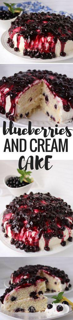 블루베리&크림 케이크