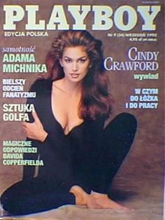 Playboy (Poland) September 1995  with Cindy Crawford on the cover of the magazine