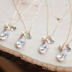 Bridesmaid necklace idea! Cute!