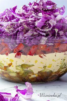 Sałatka gyros bez mięsa - Wiszniówka Ketchup, Decorative Bowls, Cabbage, Grilling, Vegetables, Food, Per Diem, Crickets, Veggie Food