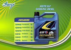 ¡¡Vienes por el precio...!! Aceite ELF para coche diesel o gasolina. Más información en http://www.aurgi.com