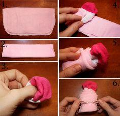 babyparty geschenke selber machen baby sock waschlappen cupcake