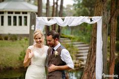 A perfect relaxed Little Forest Cottages Wedding in the Southern Highlands. This gorgeous outdoor wedding had rustic and vintage styling and lots of charm. Forest Cottage, Cottage Wedding, Rustic Weddings, Vintage Fashion, Couple Photos, Wedding Dresses, Photography, Style, Couple Pics