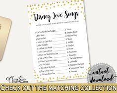 Disney Love Songs Game Bridal Shower Disney Love Songs Game Gold Confetti Bridal Shower Disney Love Songs Game Bridal Shower Gold CZXE5 #bridalshower #bride-to-be #bridetobe