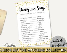 Disney Love Songs Game Bridal Shower Disney Love Songs Game Confetti Bridal Shower Disney Love Songs Game Bridal Shower Confetti CZXE5 #bridalshower #bride-to-be #bridetobe