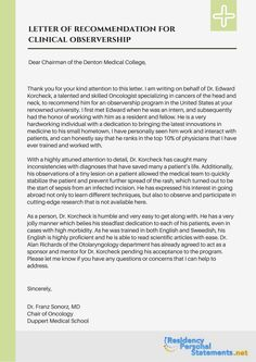 Sample Letter To Residency Program Director That Will Show You