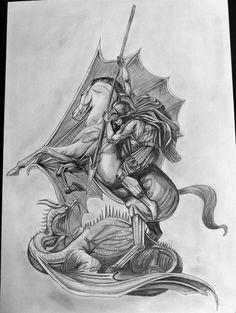 St George the dragon slayer