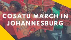 Members of Cosatu, the SACP and the ANC in Gauteng marched to the City of Johannesburg's offices, banks, the Chamber of Mines and the Gauteng premier's offic. March, Mac