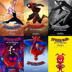 SpiderMan: Into The Spider Verse character posters Marvel Dc Comics, Marvel Avengers, Captain Marvel, Marvel Universe, Comics Spiderman, Spider Gwen, Spider Verse, Power Rangers, Belle Photo