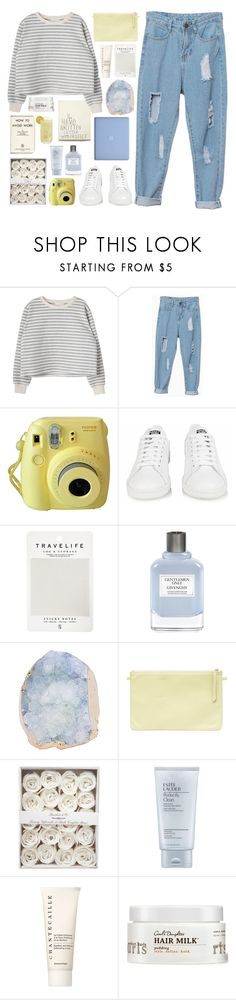 """How To Avoid Work"" by tazzibear ❤ liked on Polyvore featuring Fujifilm, adidas, Mark's Tokyo Edge, Givenchy, Estée Lauder, Chantecaille and Carol's Daughter"
