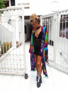 Starburst Kimono , Rat and Boa Estilo Fashion, Boho Fashion, Fashion Outfits, Japan Fashion, India Fashion, Steampunk Fashion, Gothic Fashion, Street Fashion, Tie Dye Outfits