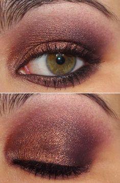 Tutorial com a sombra Trax da MAC All Things Beauty, Beauty Make Up, Hair Beauty, Makeup Inspo, Makeup Inspiration, Makeup Tips, Kelly Osbourne, Maybelline, Purple Eyeshadow