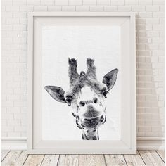 Curious Giraffe Print | hardtofind.
