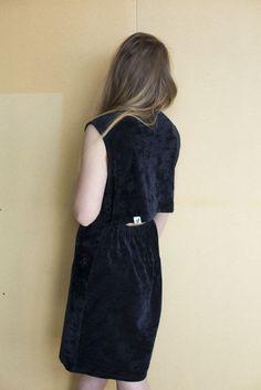 Ariel Midi Dress - Black Waves
