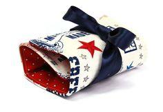 Makeup bag organizer - United states in Cream handmade by @LilachOren