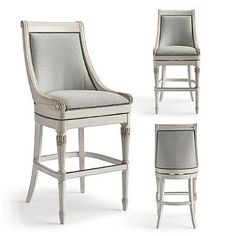 """Kent Swivel Bar Height Bar Stool (30""""H seat) @ Frontgate in MINT Fabric"""