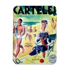 Iman de Nevera Cuba Vintage Revista