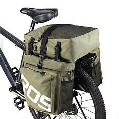 ROSWHEEL® Bike Bag 35LPanniers & Rack Trunk Waterproof / Rain-Proof / Waterproof Zipper / 3 In 1 / Moistureproof / Wearable Bicycle BagPU 4275886 2017 – $43.99