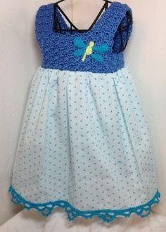 Crochet pillowcase dress newborn dragonfly by ThreadsNThingsbyMarg, $48.00