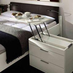 (concurso hotel) mueble multifunción - mesita de noche y bandeja de desayuno.