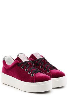 Kenzo - Plateau-Sneakers aus Samt