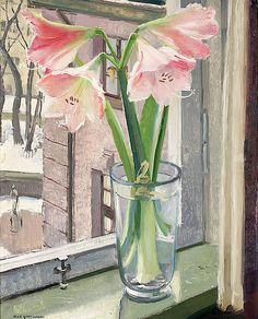Olle Hjortzberg - 'Amaryllis in the Window'