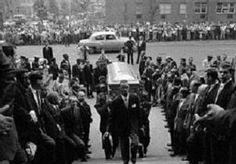 The funeral of Billie Holiday in New York on July 21, 1959.