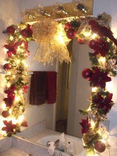 My bathroom garland for Christmas in 2011.