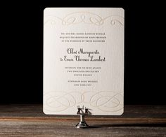 Sweet elegance and letterpress romance sing pretty with Tennyson, wedding invitations with timeless spirit by Amy Graham Stigler.