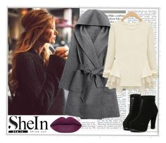 """""""Shein.com"""" by dandelion55 ❤ liked on Polyvore featuring WithChic, women's clothing, women's fashion, women, female, woman, misses, juniors and shein"""