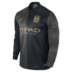 NIKE MANCHESTER CITY AWAY LONG SLEEVE JERSEY 2013/14 BARCLAYS PREMIER LEAGUE.