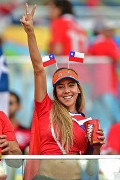 Chilean girl World Cup 2014 #WorldCup #Brazil #Soccer