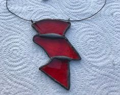 Unique stained glass necklace