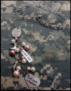 Army Wife Charm Necklace