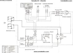 10 best golf cart wiring diagrams images electric vehicle Yamaha G14 Wiring Diagram yamaha golf cart electrical diagram yamaha g1 golf cart wiring diagram electric