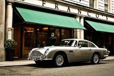 Aston Martin DB5 in London near Waterloo place.