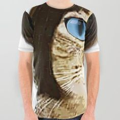 Blue Eyed Bob Cat All Over Graphic Tee Pirate Skull, Strawberries And Cream, Blue Eyes, Compliments, Bob Cat, Graphic Tees, Articles, Unisex, Patterns