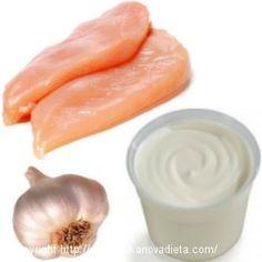 Jogurtovo-cesnakové kuracie prsia