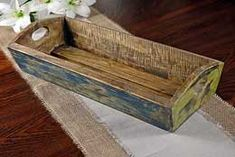 Wood Tray Multi Color 8 in x 20 in