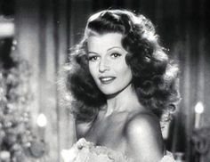 """In MEMORY of RITA HAYWORTH on her BIRTHDAY - Born Margarita Carmen Cansino, American actress, dancer, and producer. She achieved fame during the 1940s as one of the era's top stars, appearing in 61 films over 37 years. The press coined the term """"The Love Goddess"""" to describe Hayworth after she had become the most glamorous screen idol of the 1940s. She was the top pin-up girl for GIs during World War II. Oct 17, 1918 - May 14, 1987 (Alzheimer's disease)"""