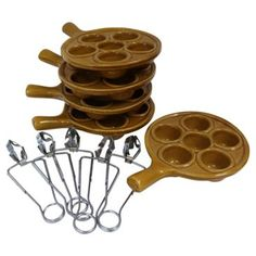 Check out this item at One Kings Lane! Majolica Escargot Serving Set, 10 Pcs