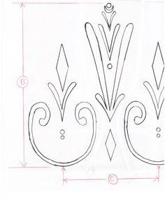 Elsa's coronation dress: the motifs:: Fantastic tutorial at http://www.andreaschewedesign.com