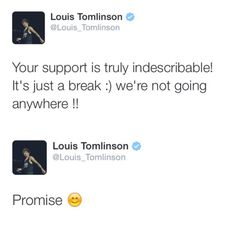 He promised haters. Ha! So I will happily see Louis, Niall, Liam, and Harry together as One Direction in 2017.
