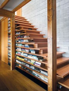 Built In Bookcase Under Stairs Storage Design Ideas Loft Stairs, Under Stairs, Modern Staircase, Staircase Design, Staircase Ideas, Book Staircase, Staircase Pictures, Staircase Decoration, Stair Design